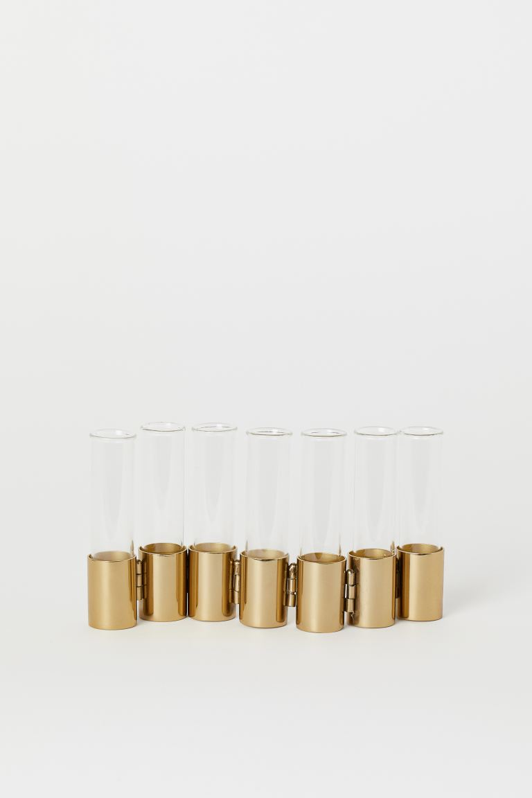 Metal and Glass Vase - Gold-colored/clear glass - Home All | H&M US