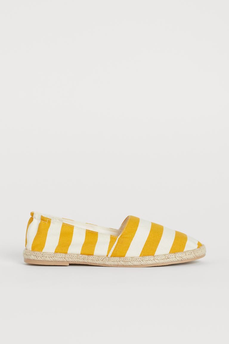 Espadrilles - Yellow/White striped - Ladies | H&M IN