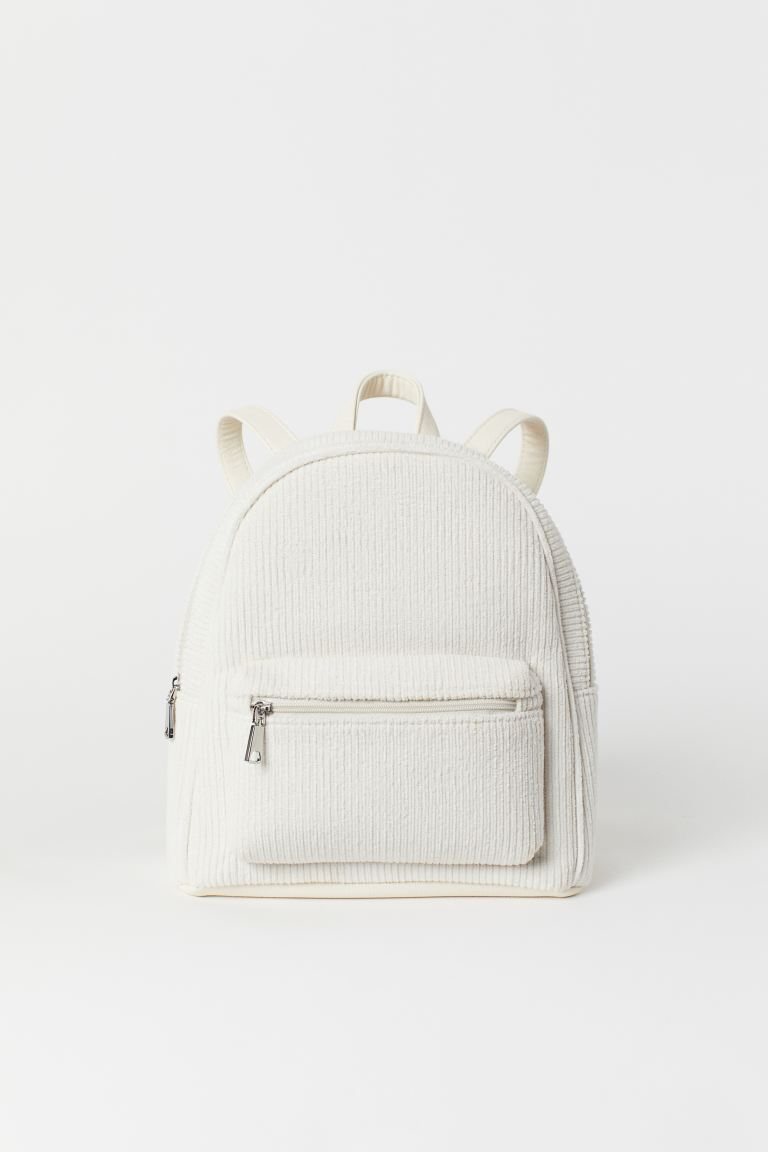 Small Backpack - Natural white/corduroy - Ladies | H&M US