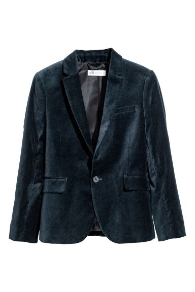 Blazer a un bottone - Blu scuro/velluto - BAMBINO | H&M IT