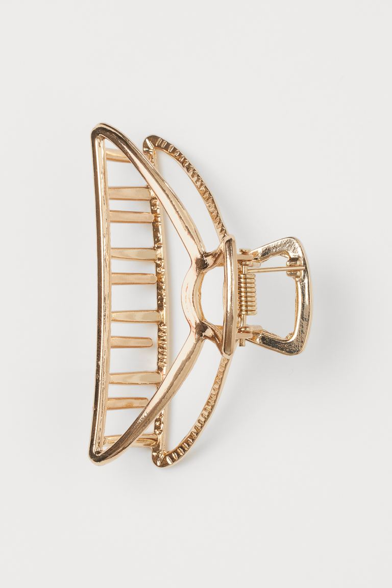 Metal hair claw - Gold-coloured - Ladies | H&M IN