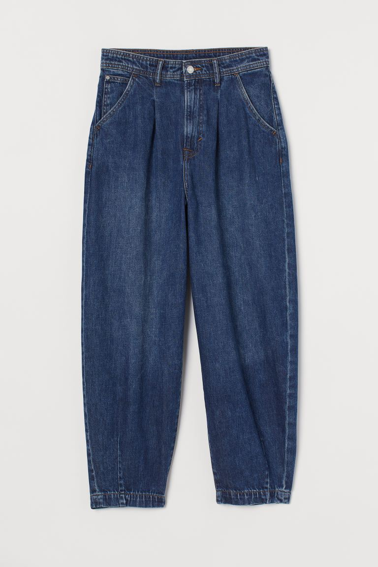 Balloon Ultra High Ankle Jeans - Donker denimblauw - DAMES | H&M NL