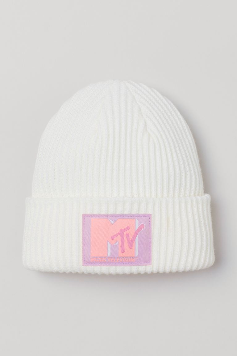 Rib-knit Hat - White/MTV - Ladies | H&M US
