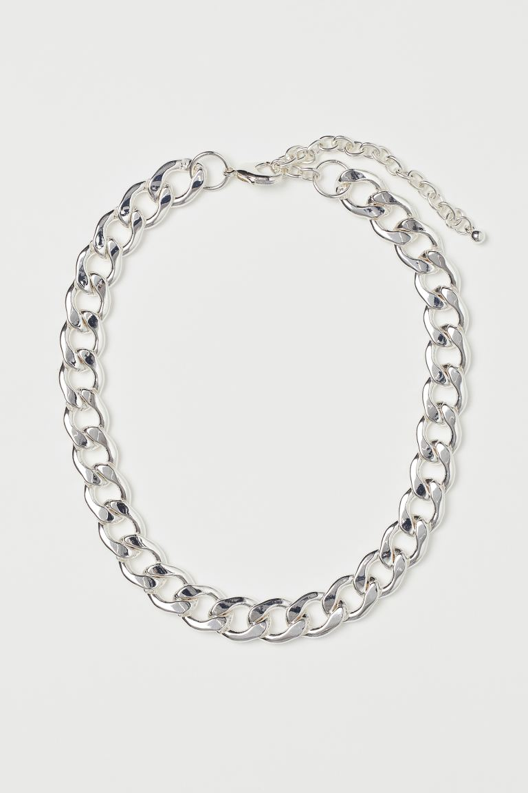Short necklace - Silver-coloured - Ladies | H&M IN