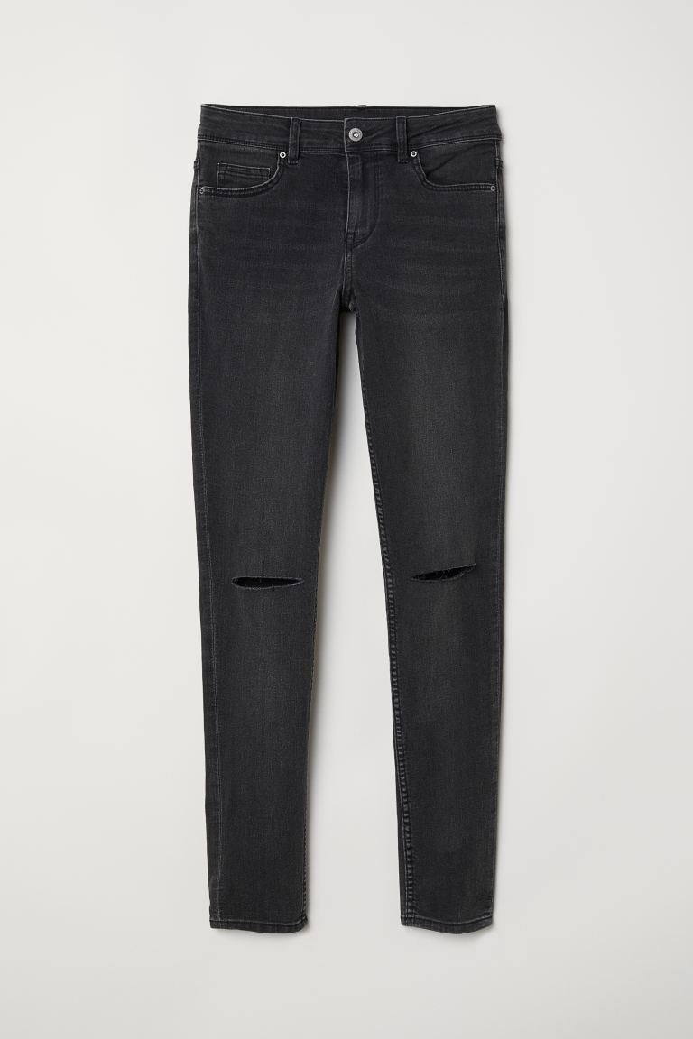 Super Skinny Regular Jeans - Тъмносив - ЖЕНИ | H&M BG