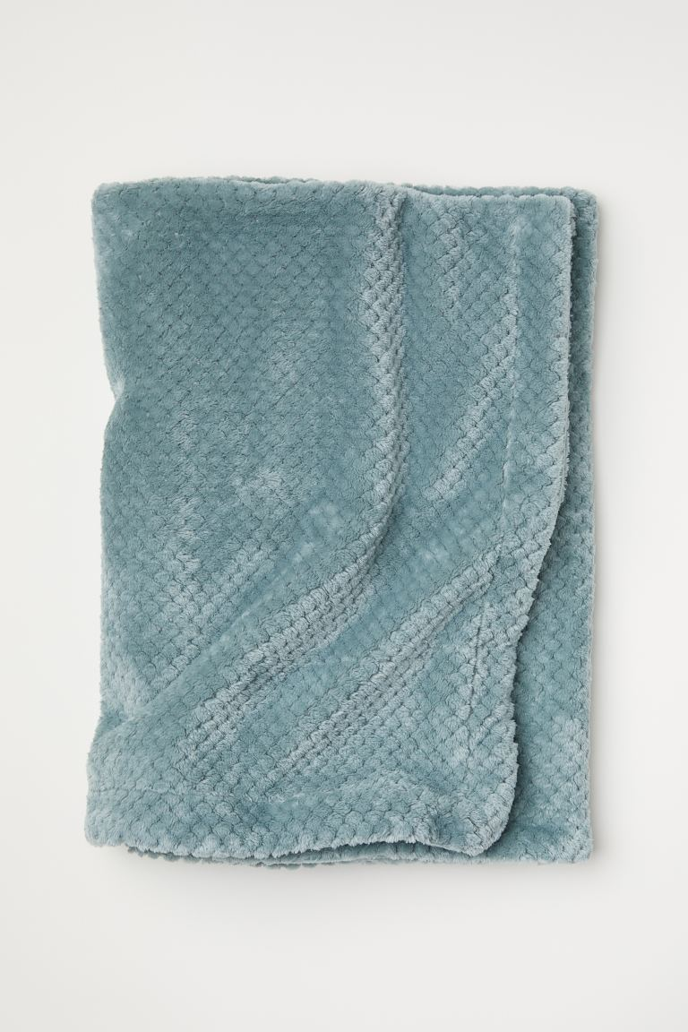 Fleece Throw - Light green - Home All | H&M US