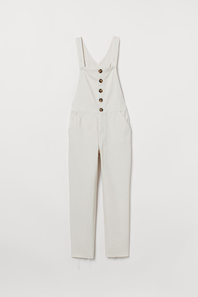 Denim Overalls - Natural white - Ladies | H&M US