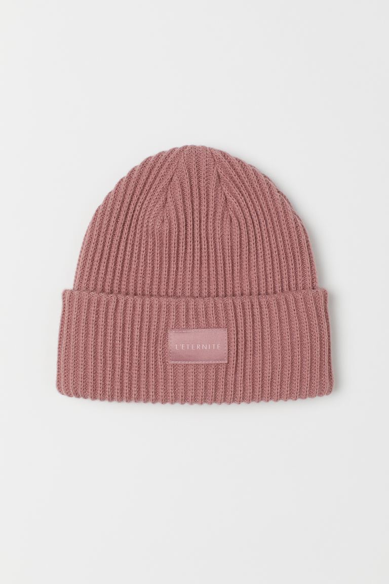 Rib-knit Hat - Vintage pink - Ladies | H&M US