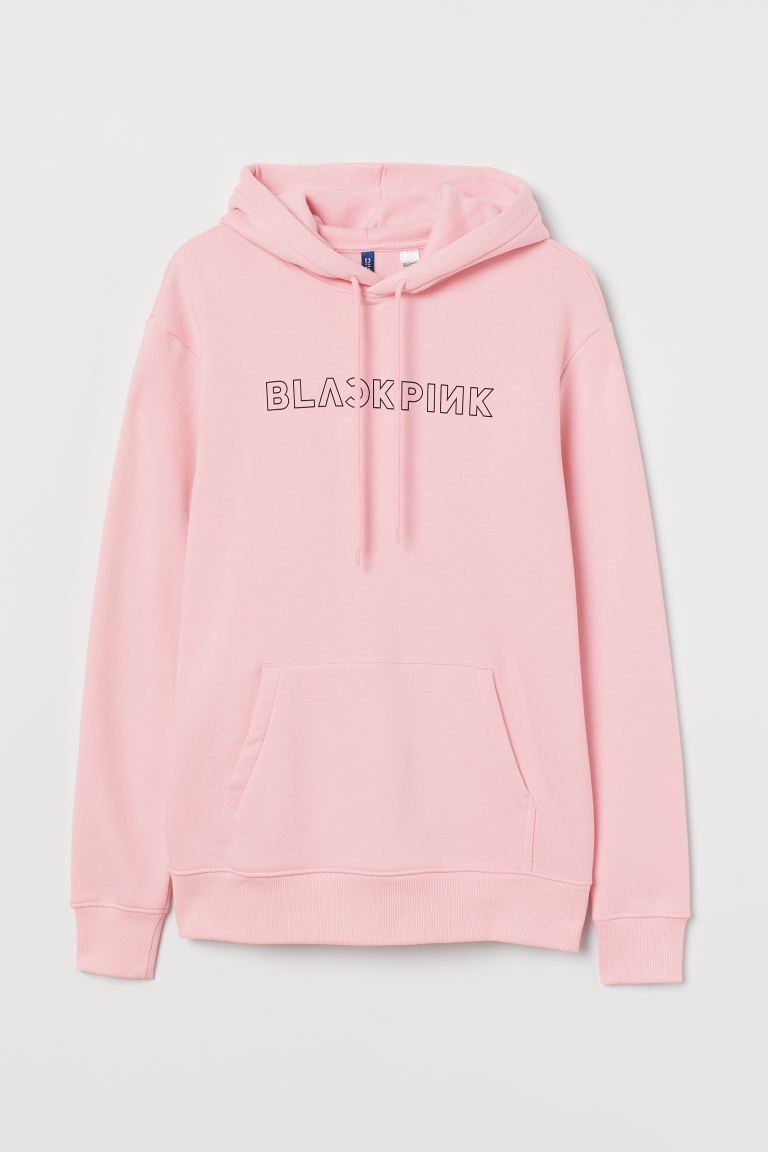 Bluza z kapturem - Jasnoróżowy/Blackpink - ON | H&M PL