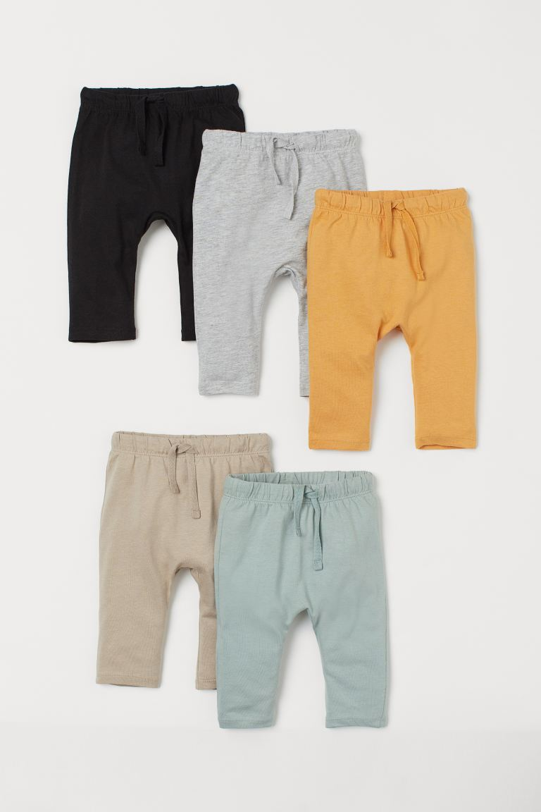5-pack cotton trousers - Yellow - Kids | H&M