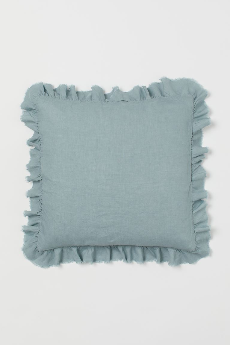 Linen Cushion Cover - Light turquoise - Home All | H&M US