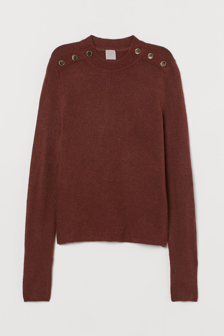Fine-knit Sweater - Rust brown - Ladies | H&M US