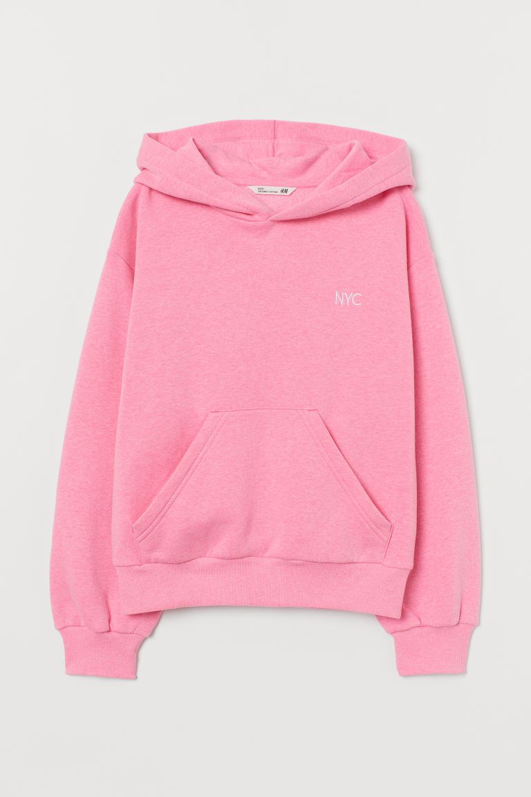 Hooded top - Pink marl - Kids | H&M