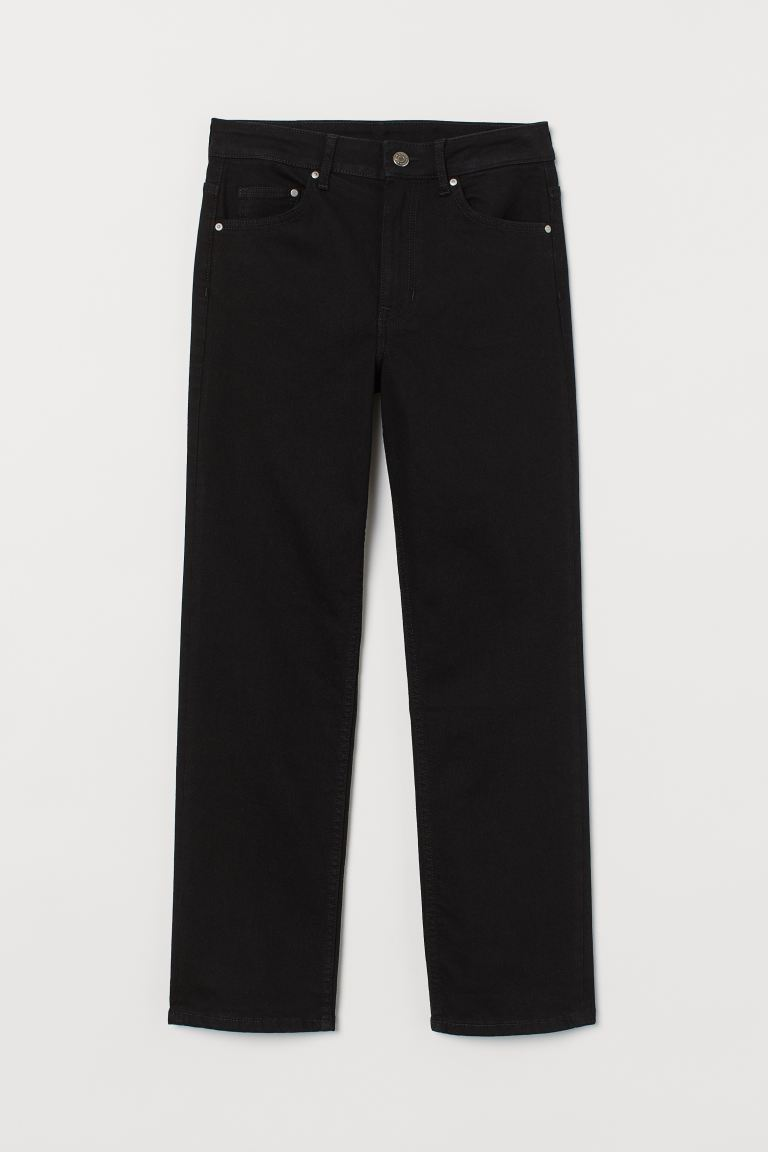 Straight High Ankle Jeans - Black - Ladies | H&M US