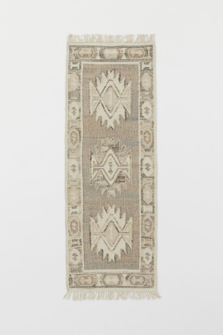 Wool Blend Kilim Rug Taupe Patterned Home All H M Ca