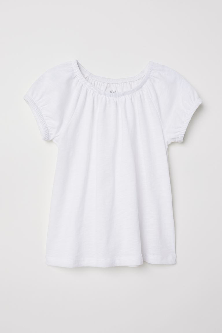 Jersey top - White - Kids | H&M GB
