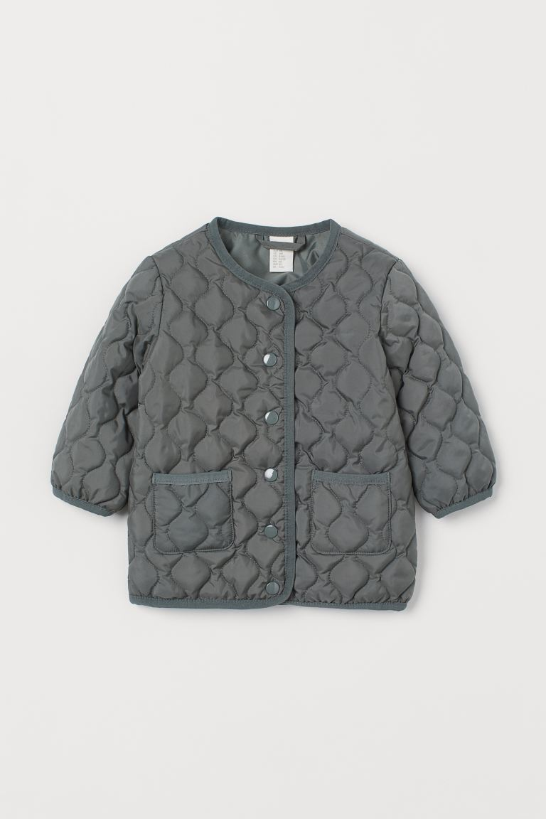 Quilted Jacket - Sage green -  | H&M US