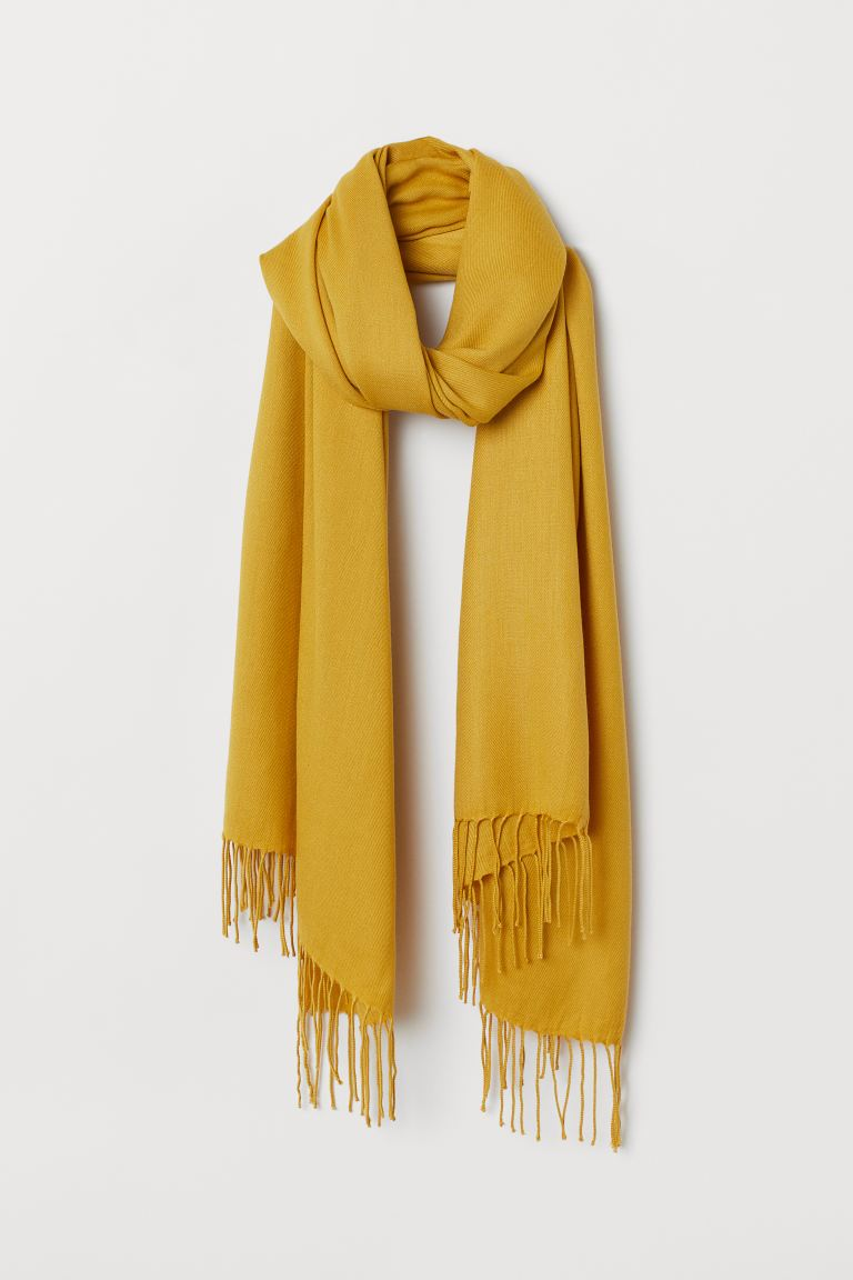 Woven scarf - Yellow - Ladies | H&M