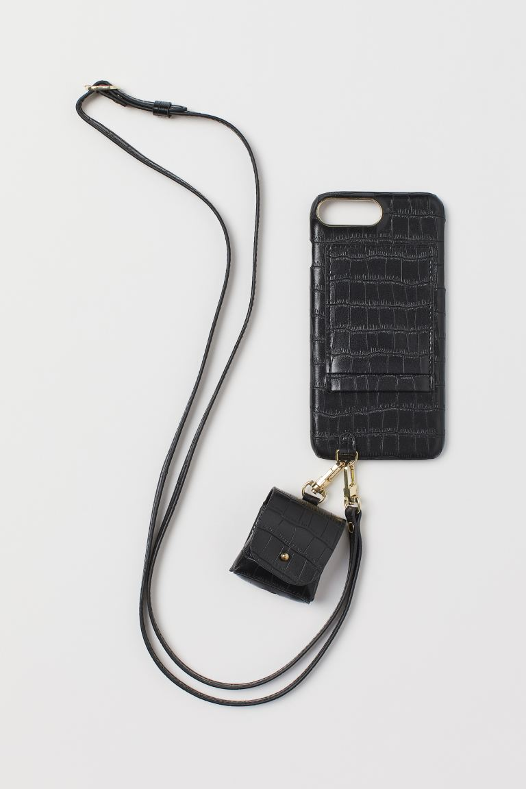 iPhone Case and Headphone Case - Black - Ladies | H&M US