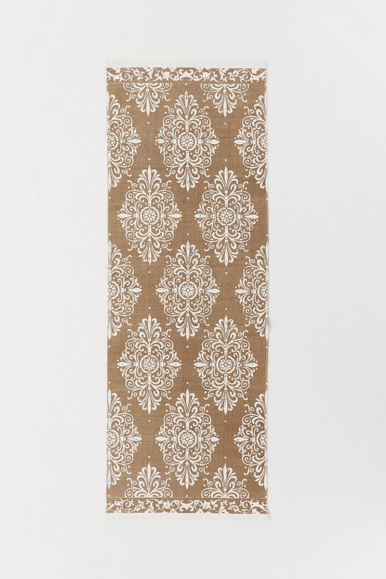 Patterned Cotton Rug - Dark beige/white - Home All | H&M US