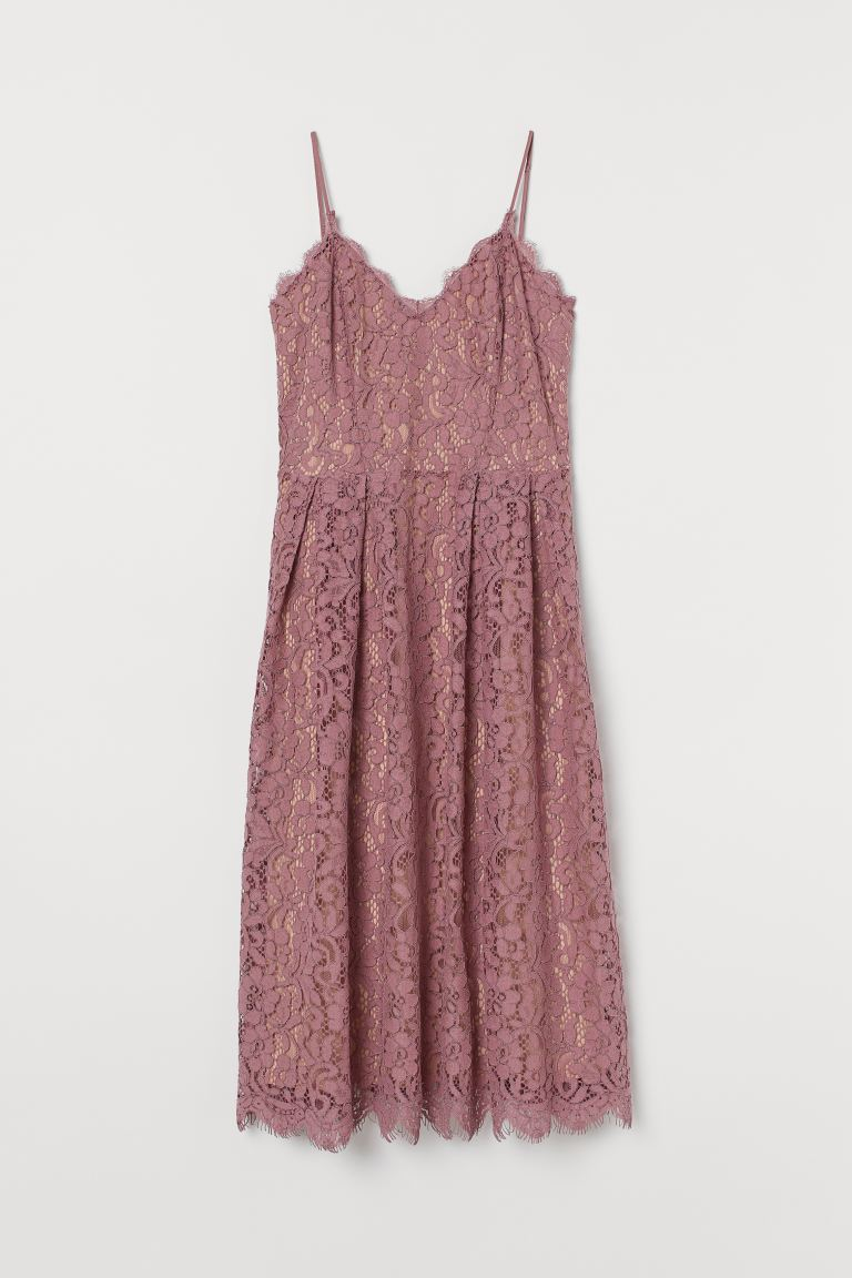 H&M+ Lace Dress - Dusty rose - Ladies | H&M US