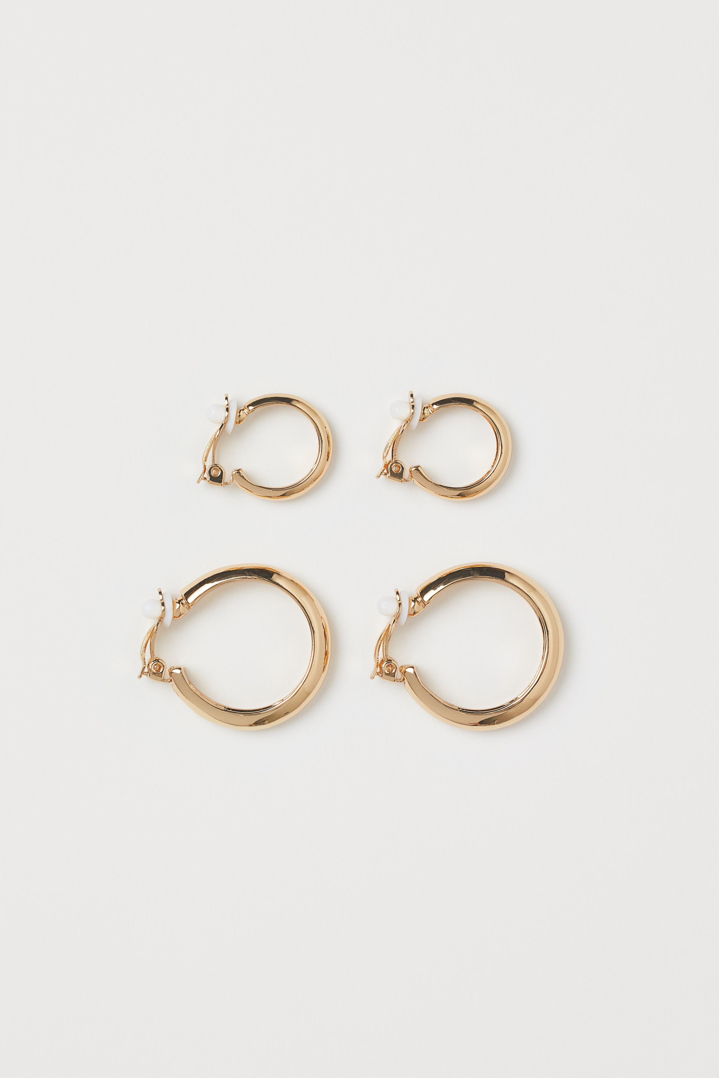 Two Pairs Clip Earrings