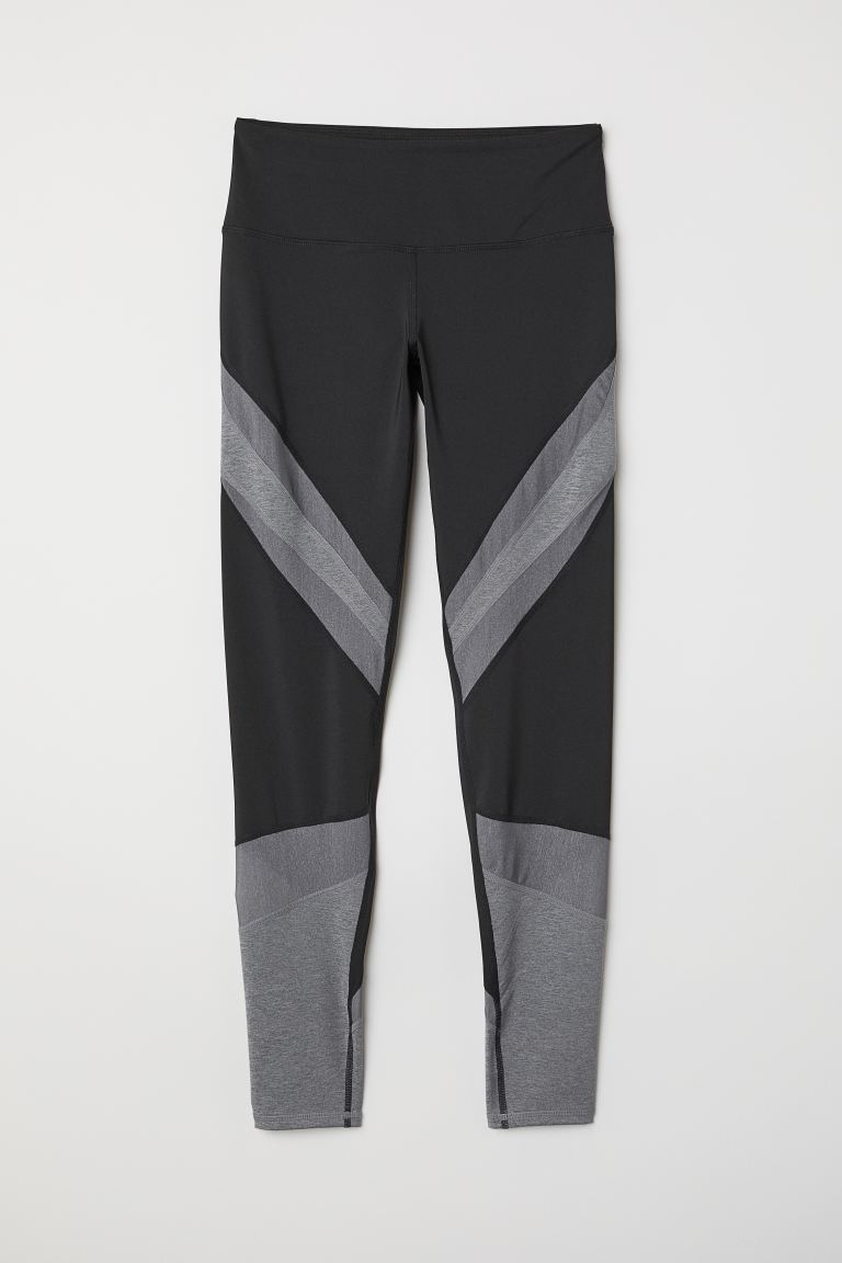 Leggings yoga iridescenti - Nero - DONNA | H&M CH