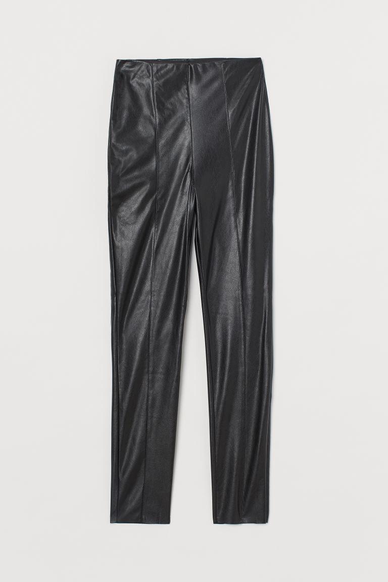 Crease-front leggings