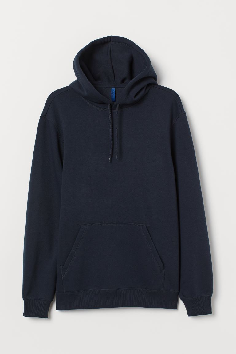 Relaxed Fit Hoodie - Navy blue - Men | H&M