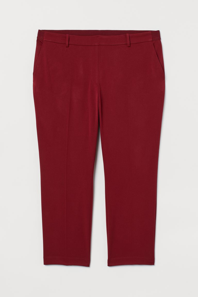 H&M+ Pantaloni pull-on - Rosso scuro - DONNA | H&M CH