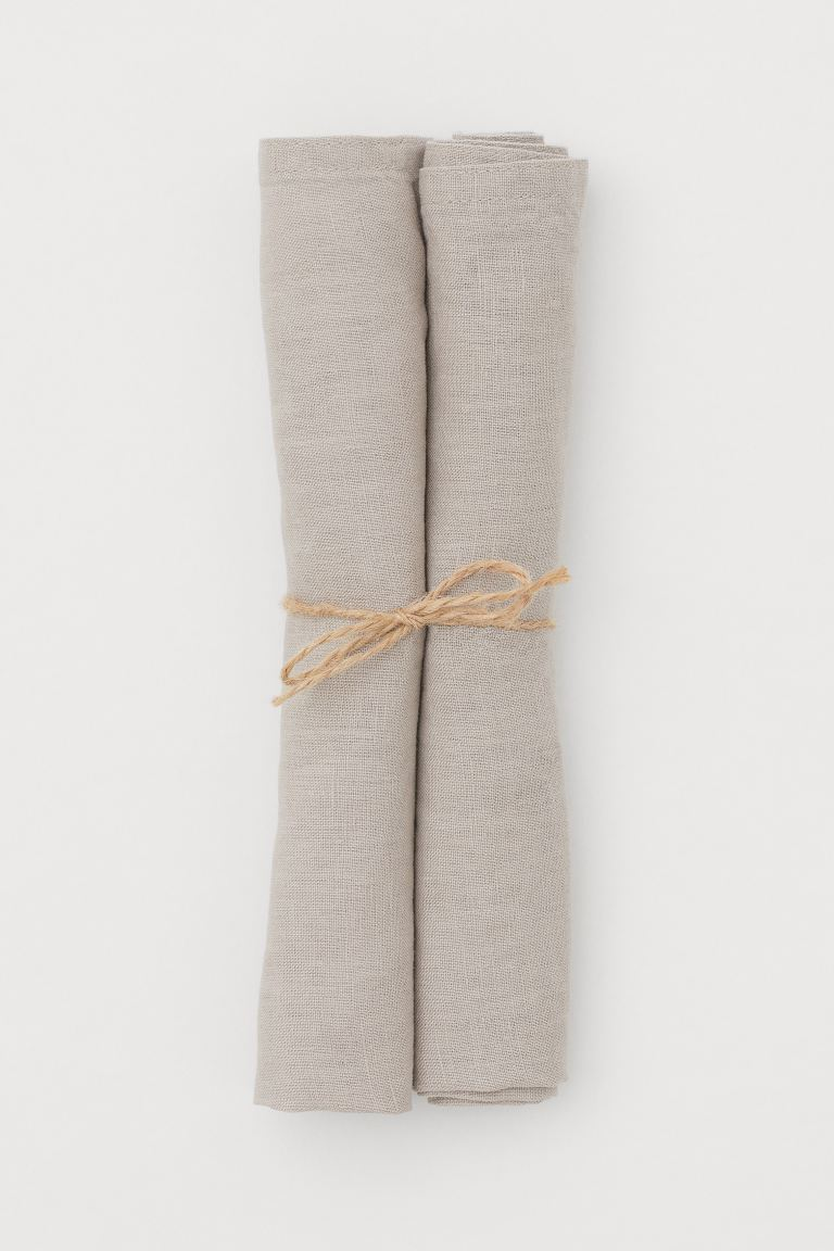 2-pack Linen Napkins - Taupe - Home All | H&M US