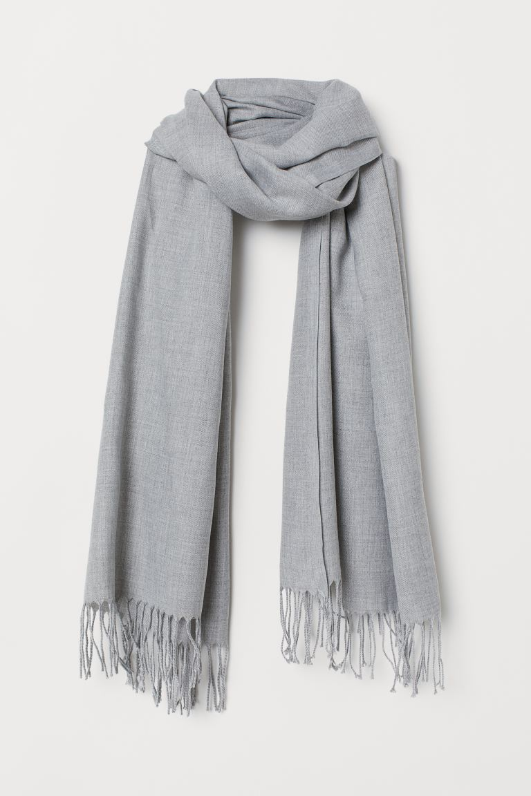 Woven scarf - Light grey marl - Ladies | H&M
