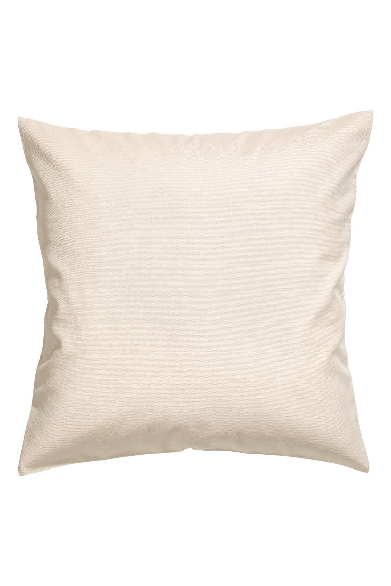 Cotton canvas cushion cover - Beige - Home All | H&M GB