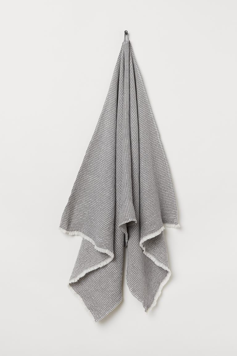 Waffled Bath Towel - Gray/white - Home All | H&M US