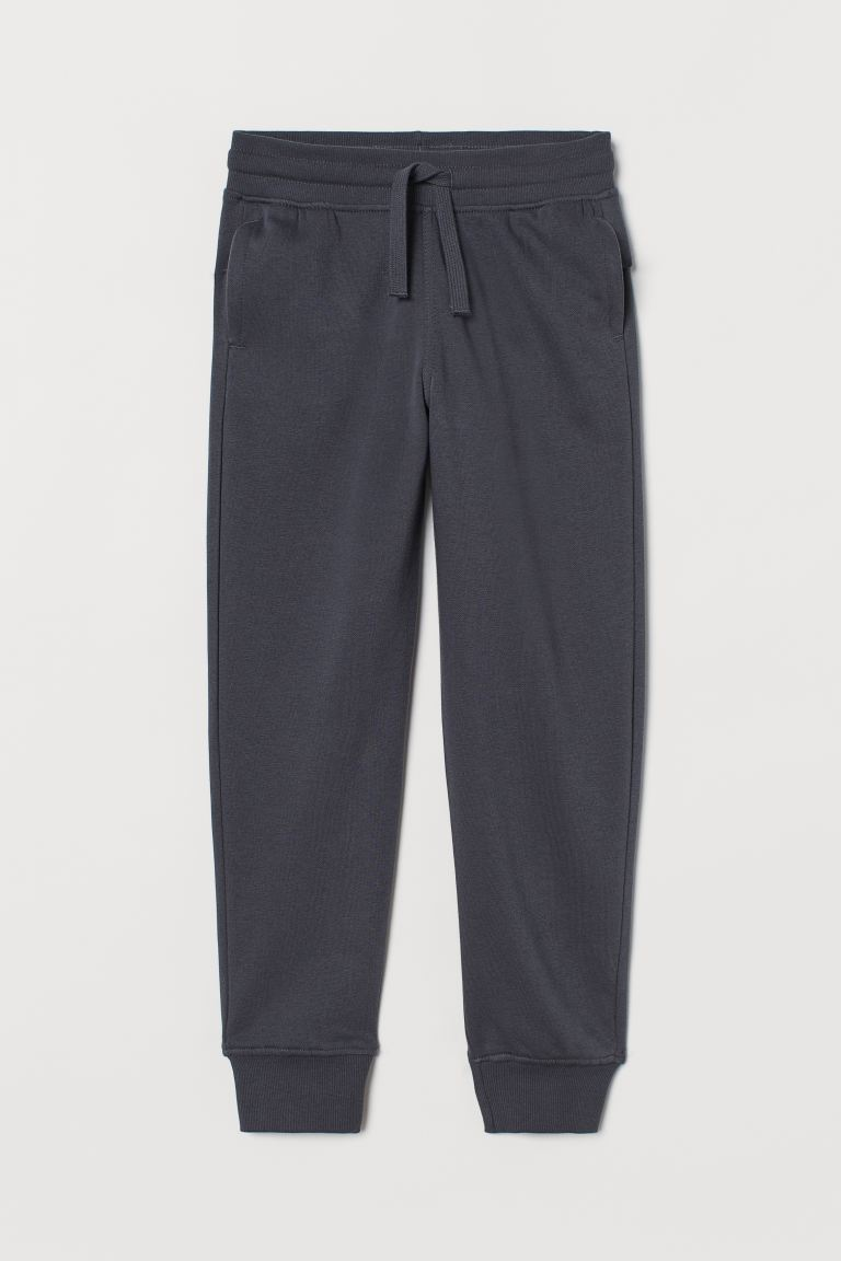 Cotton-blend joggers - Dark grey - Kids | H&M