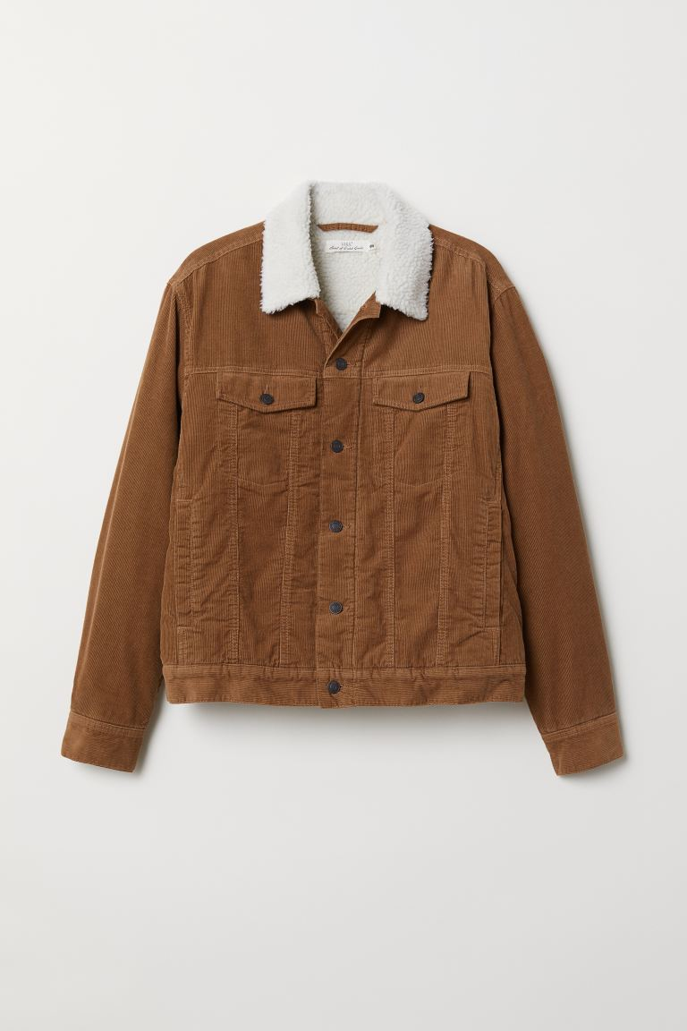 Corduroy Jacket - Light brown - Men | H&M US