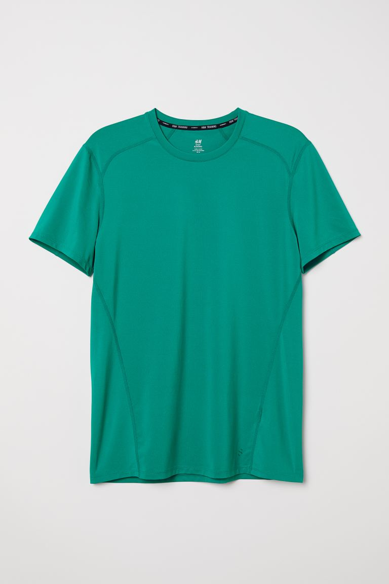 Sports top Muscle Fit - Green - Men | H&M