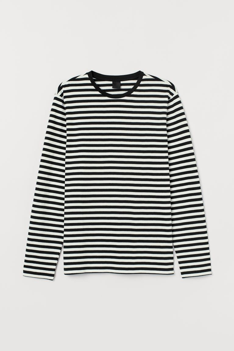 Striped Shirt - White/black - Men | H&M CA