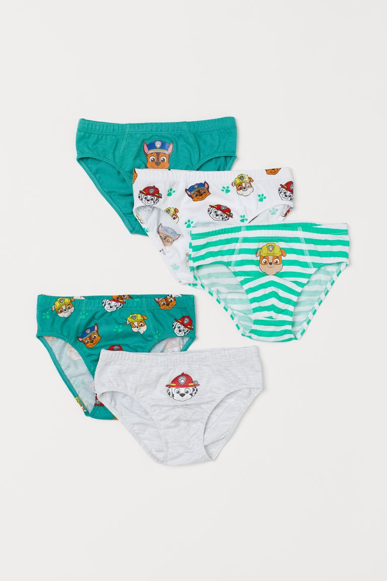 5-pack Printed Boys' Briefs - Green/Paw Patrol - Kids | H&M US