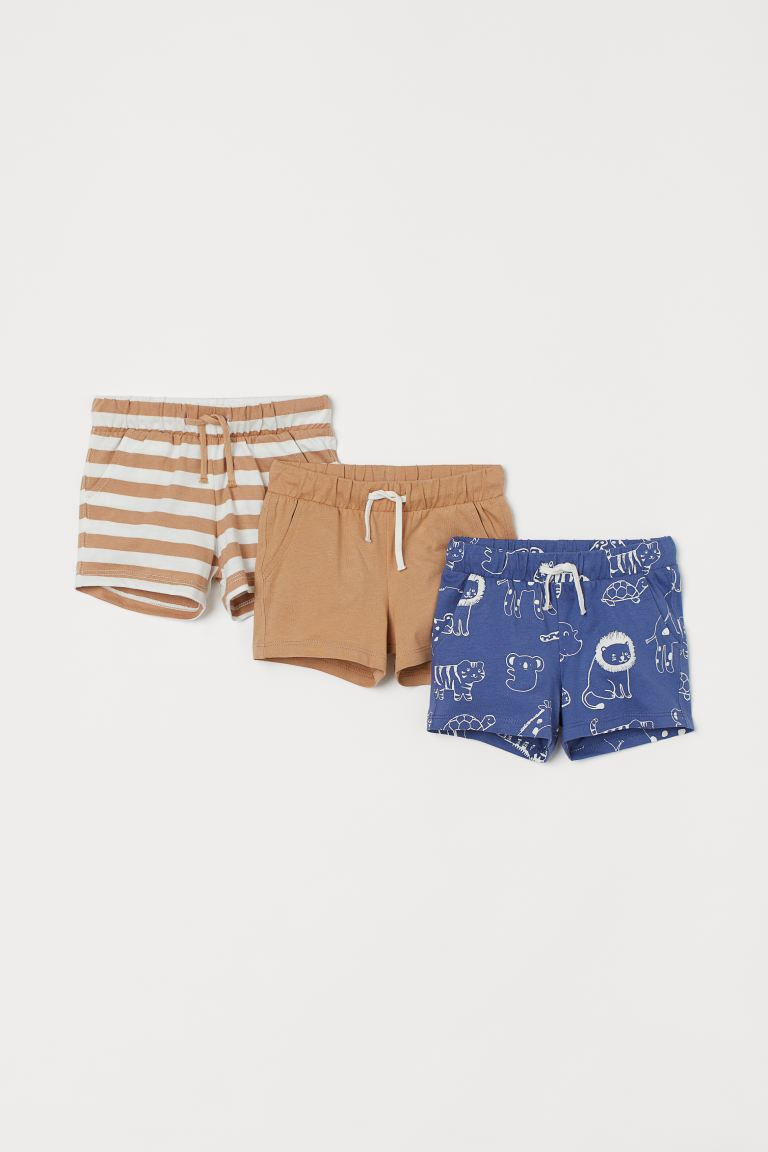 Shorts in jersey, 3 pz - Blu/animali - BAMBINO | H&M IT