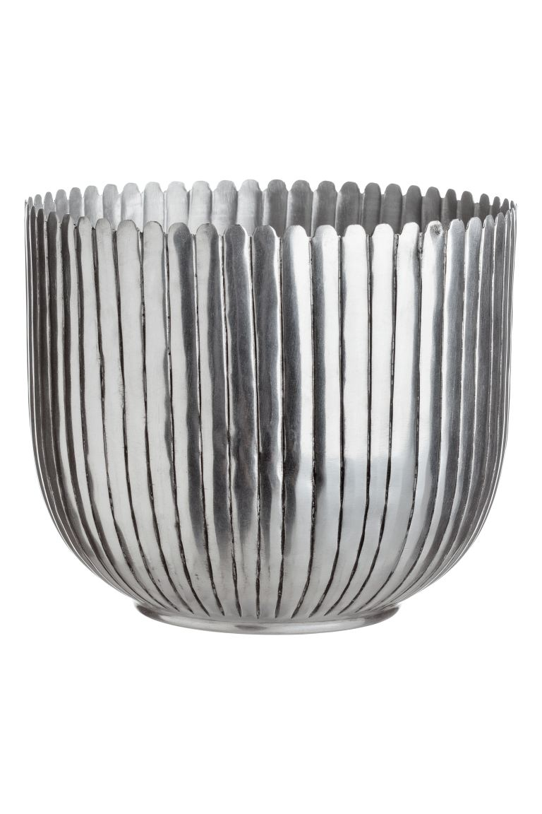 Grand pot en métal - Argenté - Home All | H&M CA