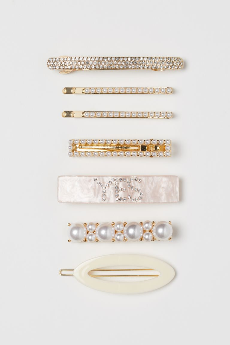 7-pack Hair Clips - Gold-colored/light pink - Ladies | H&M CA