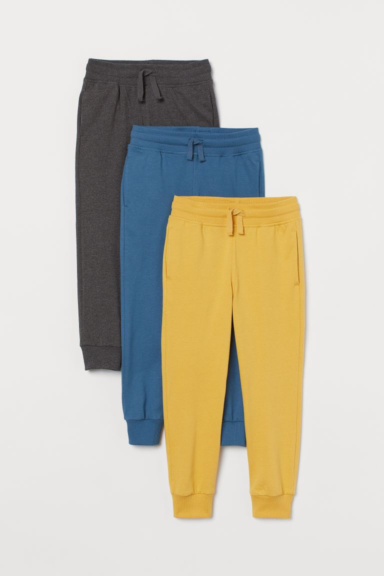 3-pack joggers - Mustard yellow - Kids | H&M