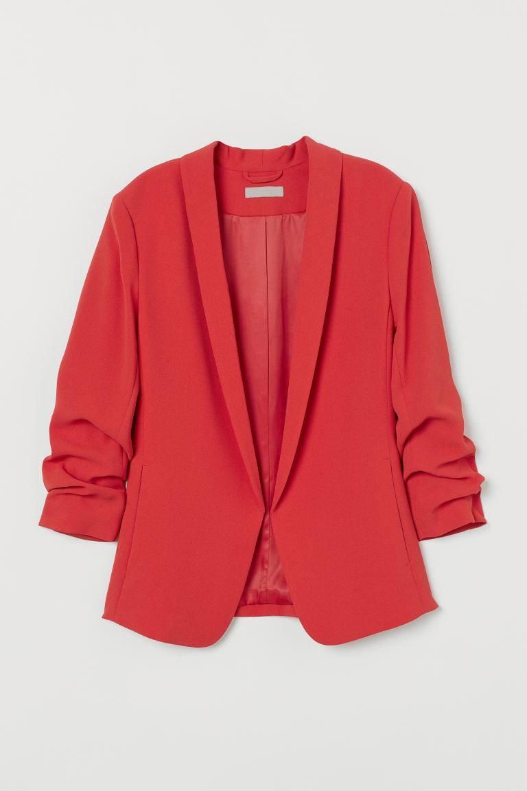 Shawl collar jacket - Raspberry red - Ladies | H&M