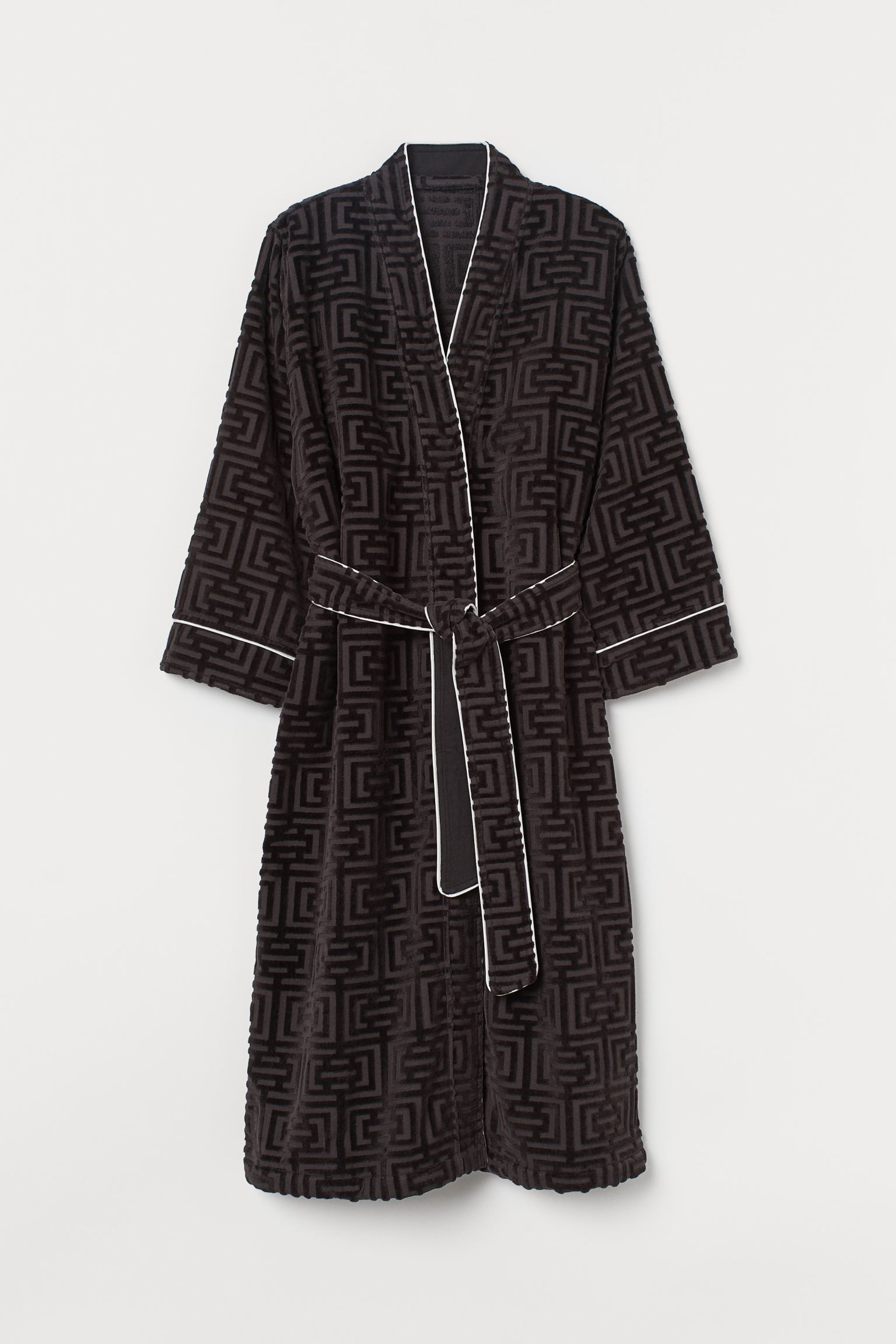 Jacquard-weave dressing gown H&M