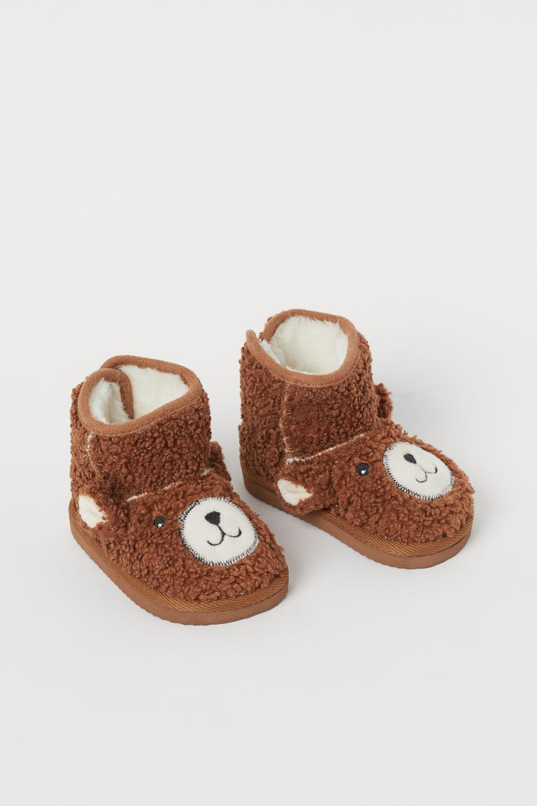 Warm-lined Boots - Brown/bear - Kids | H&M US