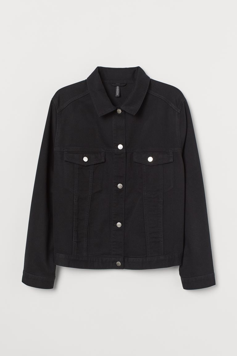 H&M+ Twill Jacket - Black - Ladies | H&M US