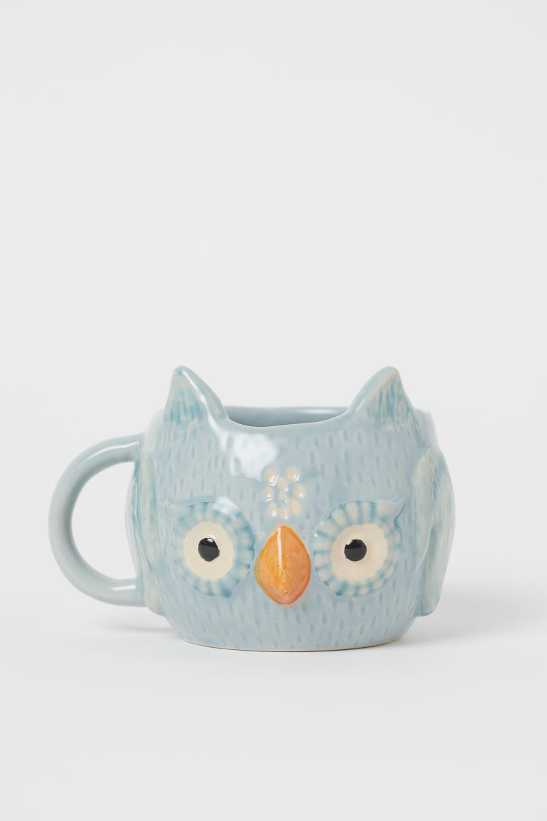 Tazza a forma di animale - Turchese chiaro/gufo - HOME | H&M IT
