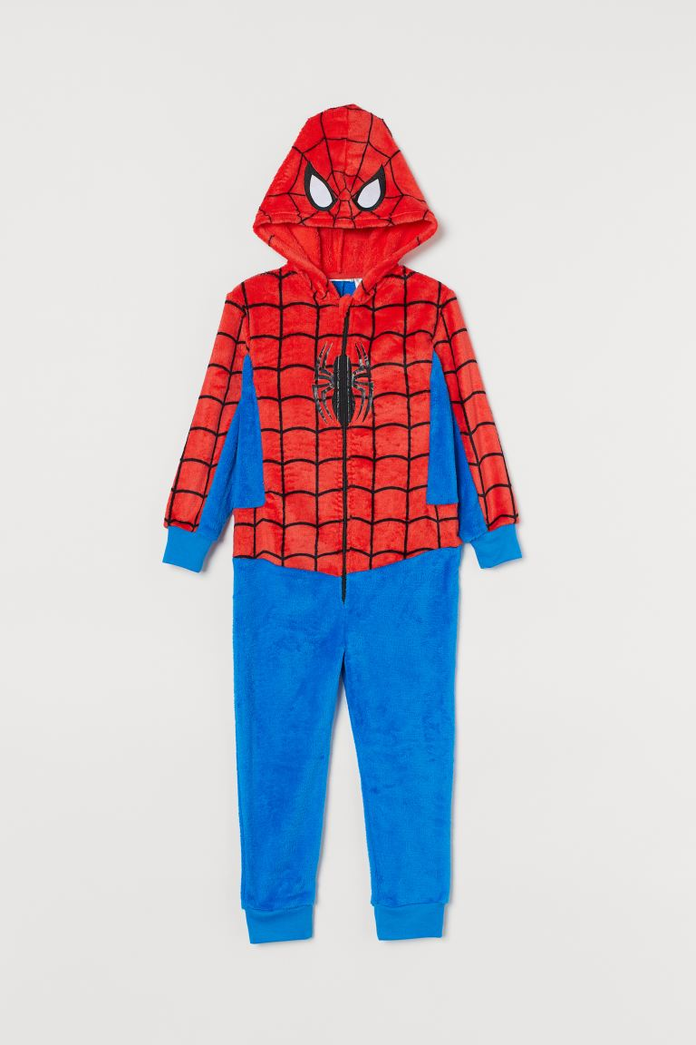 Costume in pelliccia di pile - Blu acceso/Spiderman - BAMBINO | H&M IT