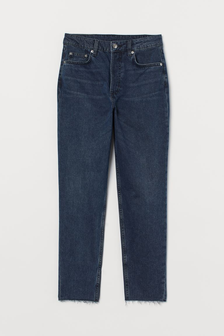 Slim Mom High Ankle Jeans - Dunkelblau - Ladies | H&M DE